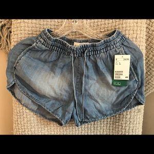 jean like shorts h&m